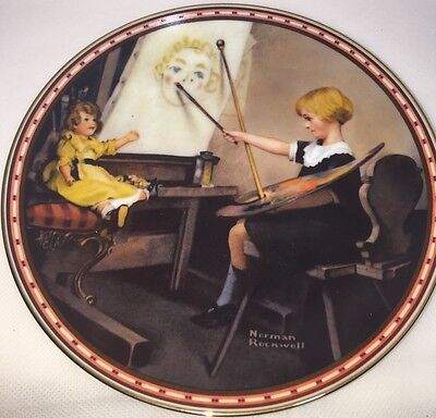 $ CDN24.98 • Buy Norman Rockwell  Serious Business  Limited Edition Plate 1987 Edwin M Knowles