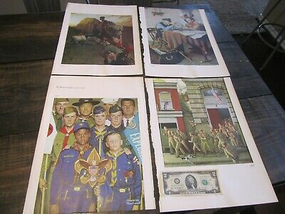 $ CDN42.46 • Buy Vintage 1970's Norman Rockwell Print Page Heavy Paper BOY SCOUTS 7 TOTAL IMAGES