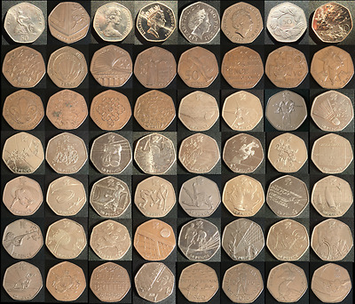 £6.99 • Buy Various & Rare UK 50 Pence Coins + 50p Olympic & Commemorative Listed