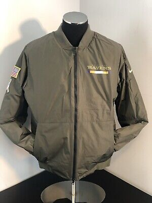 03445fb16fc New Sz Large Nike Baltimore Ravens Salute To Service Reversible Bomber  Jacket • 74.00$