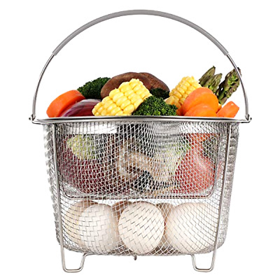 $26.98 • Buy Aoizta Steamer Basket For Instant Pot Accessories 6 Qt Or 8 Quart - 2 Tier Stack