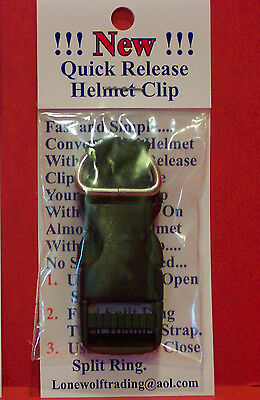 £6.34 • Buy  New  Motorcycle  Quick Release Helmet Buckles Fits Up To 3/4  Strap-2 Styles