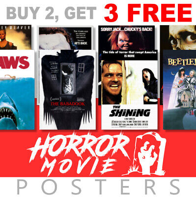£3.99 • Buy Scary Horror Movie Posters, A4, A3 270gsm, Prints Poster Art, Film