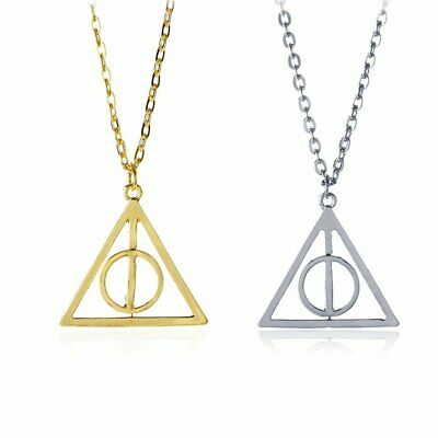 AU3.95 • Buy Harry Potter And The Deathly Hallows Rotatable Pendant Necklace Silver Gold