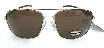 909c6c0ab0159 NEW Men s FOSSIL FM32 Gold Wrap Flight Aviator Sunglasses • 25.00