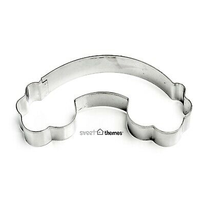 AU3.50 • Buy Rainbow And Clouds Cookie Cutter / Clay, Fondant & Fruit Cutter