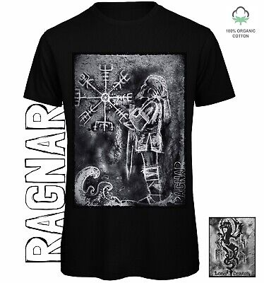 Ragnar T-shirt Sustainable Organic Cotton Eco Clothing Vikings Pagan Norse Myth  • 20£