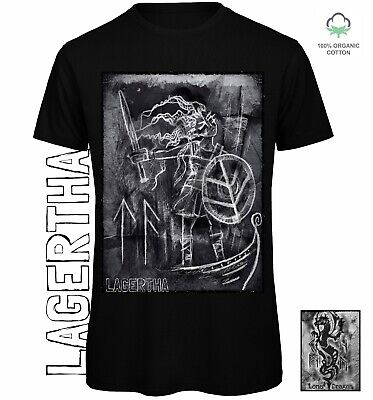 Lagertha T-shirt Sustainable Eco Clothing Alternative Shieldmaiden Vikings Norse • 20£