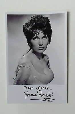 AU7.25 • Buy HAMMER HORROR - Actress Yvonne Romain Reproduced Autograph 6 X4  Glossy Pic