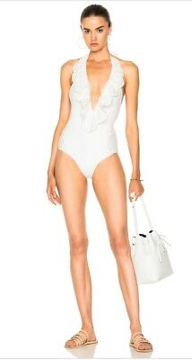 $150 • Buy Zimmerman Meridian Frill Plunge One Piece Swimsuit Sz 2