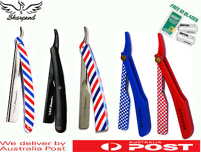 AU10.89 • Buy SHARPEND Barber Salon Straight Cut Throat Shaving Razor Men Safety Blade Razors