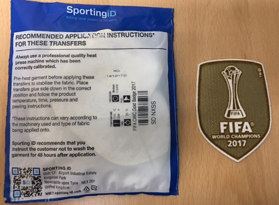 $11.50 • Buy Sporting ID Official Adidas Real Madrid Home Away FIFA CWC 2017 Patch Badge