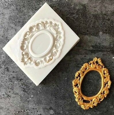 Small Mirror/frame Silicone Mould/mold-ornate Oval-vintage-baroque-mini Resin • 4.65£