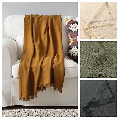 AU39.99 • Buy IKEA Throw Blanket Rug Snuggle Sofa Lounge Couch Bed Warm Cotton Soft Cover