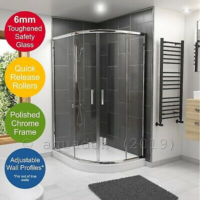 Corner Entry Offset Quadrant Shower Enclosures Walk In 6mm 2 Door • 98.95£