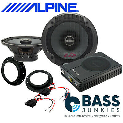 ALPINE PG Front Door Speakers & 300W Underseat Sub Kit To Fit VW Transporter T5 • 229£