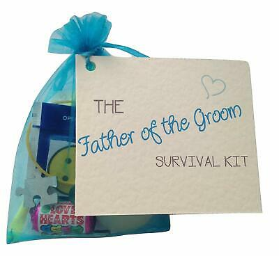 Father Of The Groom Survival Kit. Thank You Gift  Keepsake. Novelty Wedding • 5.50£
