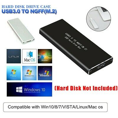 AU14.15 • Buy Aluminium M.2 NGFF SSD SATA TO USB 3.0 External Enclosure Storage Case Adapter