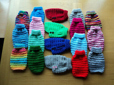 £5.50 • Buy  Hand Knitted 6 Inch Jumper/Coat For XX Small Dog/Cat/Puppy/Kitten Chihuahua