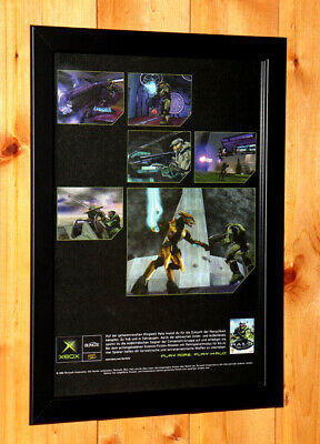 £43.45 • Buy 2002 Halo Combat Evolved Rare Small Poster / Vintage Ad Page Framed Xbox