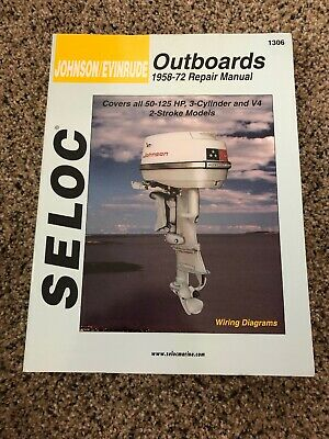 used seloc johnson/evinrude outboards 1958-72 repair manual 1306 • 10 99$