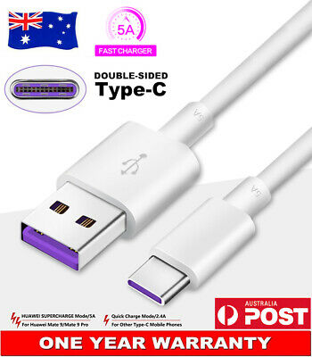 AU10.30 • Buy Original USB Type-C 5A Charger Adapter Cable Data Cord For Huawei P30 Pro P20 AU