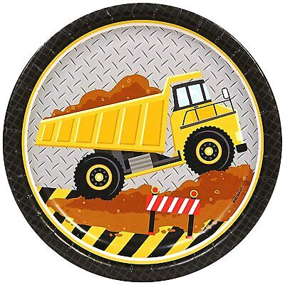 AU11.89 • Buy Under Construction Truck Tractor Kids Birthday Party 9  Paper Dinner Plates