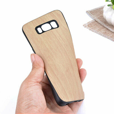 $ CDN5.32 • Buy Case For Samsung Galaxy S8 Luxury Wood Pattern Leather Case With Silicone Cover
