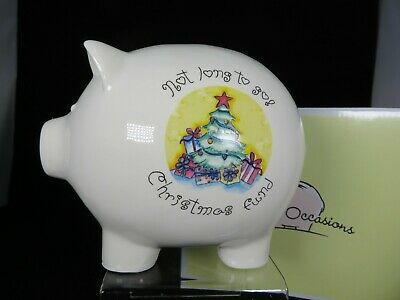 New Saving Occasions Christmas Fund Big Money Bank-Piggy Bank/Box By Enesco Ltd • 5£
