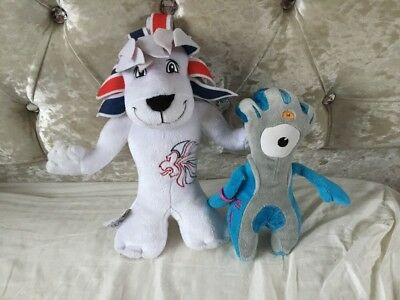 London 2012 Olympic Games Team Gb Pride The Lion Mascot Plush Soft Toy Wenlock • 4£