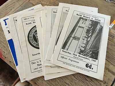 £1.99 • Buy Raith Rovers HOME Programmes 1960s Choose From List