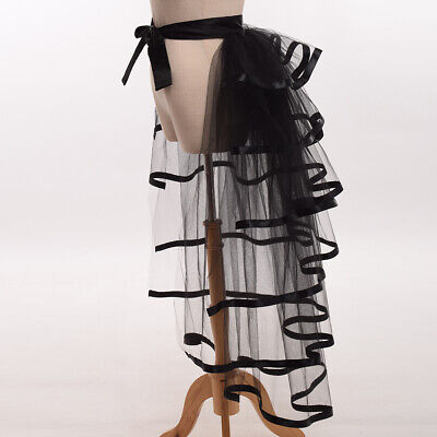 Victorian Steampunk Women Back Bustle Lace-Up Tutu Overskirt For Show Party  • 13.99£