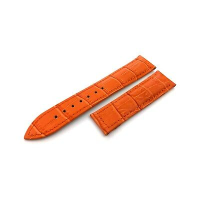Orange Genuine Leather Croco Strap Band Fit OMEGA Watches 19mm 20mm 22mm Clasp • 24.50£