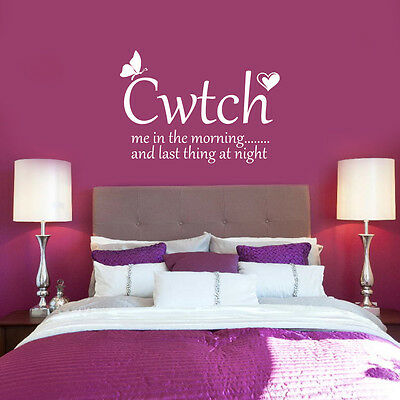 Quirky Love Quotes Bedroom Vinyl Decal Wall Stickers Home Decor Feature Art • 19.99£