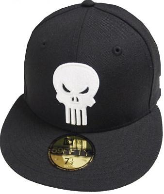 New Era Punisher Black White Marvel Cap 59Fifty Fitted Special Limited Edition • 46.37£