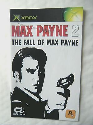 56189 Instruction Booklet - Max Payne 2 The Fall Of Max Payne - Microsoft Xbox ( • 2.49£
