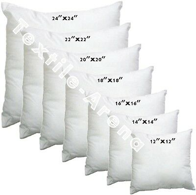 £1.70 • Buy Cushion Inner Pads Inserts Fillers 12  14  16  18  20  22  Hollow Fibre Inners