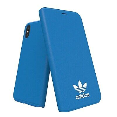 AU59.95 • Buy Adidas Originals Basic Logo Booklet Case Suits IPhone X - Blue/White BRAND NEW