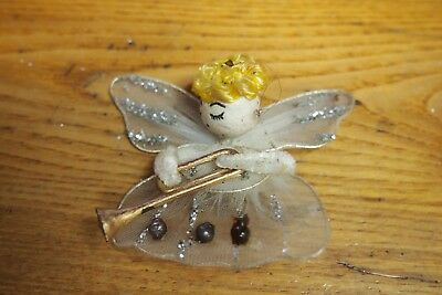 $ CDN12.12 • Buy Vintage Christmas Decorations – White  Angel With Trumpet