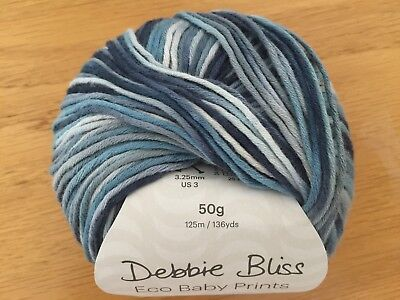 Debbie Bliss Eco Baby Prints Nautilus (12) 56012 100% Cotton 50g • 4.99£