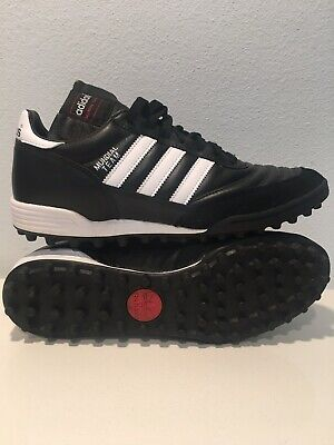 2fc5ece5976 Adidas Men s Mundial Team Turf Soccer Shoes (Black White) Size  10.5 •