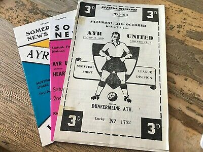 £1.99 • Buy Ayr United HOME Programmes 1960s And 1970s Choose From List