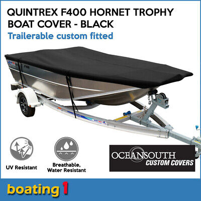 AU189 • Buy Oceansout Trailerable Custom Fitted Boat Cover For Quintrex F400 Hornet Trophy