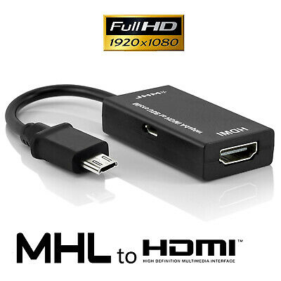 AU14.99 • Buy New 1080P Micro USB MHL To HDMI HDTV AV CABLE ADAPTER Out For Sony Xperia Z4 Z3