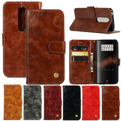 AU7.08 • Buy For OnePlus 7 6 5T Luxury Flip Retro Leather Wallet Phone Case Cover Card Holder