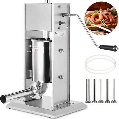 AU186.98 • Buy 7L Sausage Filler Stuffer Maker With 5 Tubes 304 Manual Operate Meat Machine
