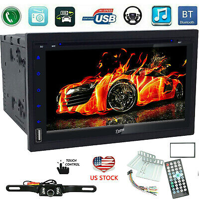 $148.69 • Buy Double 2 Din Bluetooth Car Stereo DVD CD Player 7  Radio SD USB TV  InDash +CCD