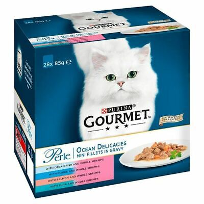 Gourmet Perle Ocean Delicacies Cat Food 28X85g • 23.99£