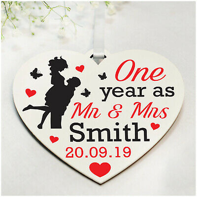 PERSONALISED 1st 5th 10th ANY Wedding Anniversary Gifts For Wife Husband Couples • 4.99£
