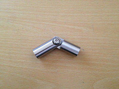 Stainless Steel Adjustable Elbow -/+90 Degree For Rod Fi12mm • 6£